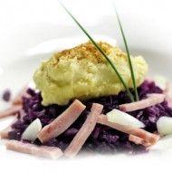 Aardappelpuree met rode kool en ham | Diner | Power Slim Nederland