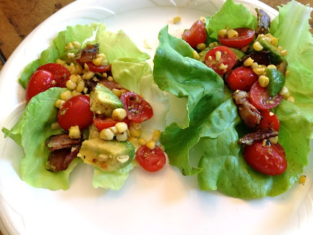 Grilled Corn and BLT Lettuce Wraps | Yummy Yummy | Pinterest