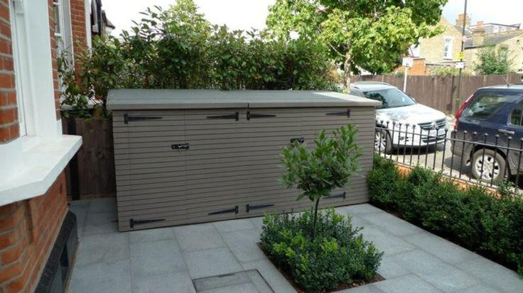 Mülltonnenbox Kunststoff Vorgarten