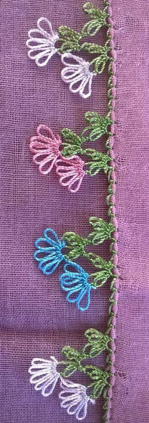 Turkish needle lace oya cotton foulard by Babyfabr on Etsy
