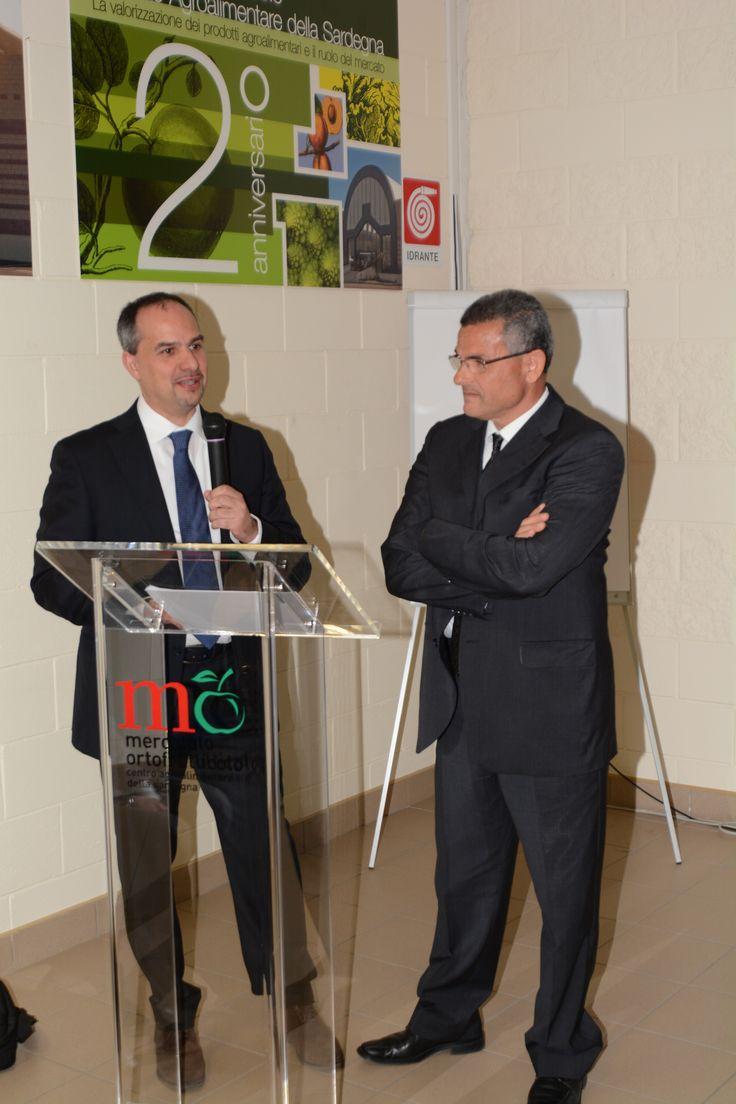 Il Dott. Licheri e il Presidente di AgriSestu Enrico Ferru