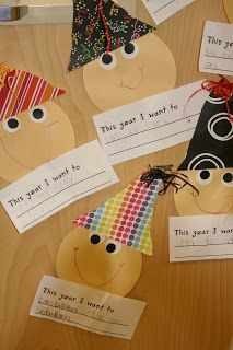 Cute writing and craft idea for kindergartners for the New Year!