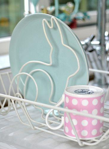 Bunny dish drainer. So cute!
