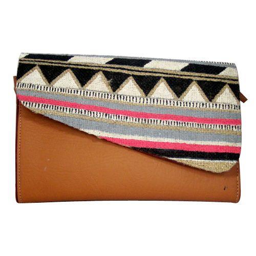 Simple Brown Tribal Clutch - http://www.slightshop.com/produk/simple-brown-tribal-clutch/