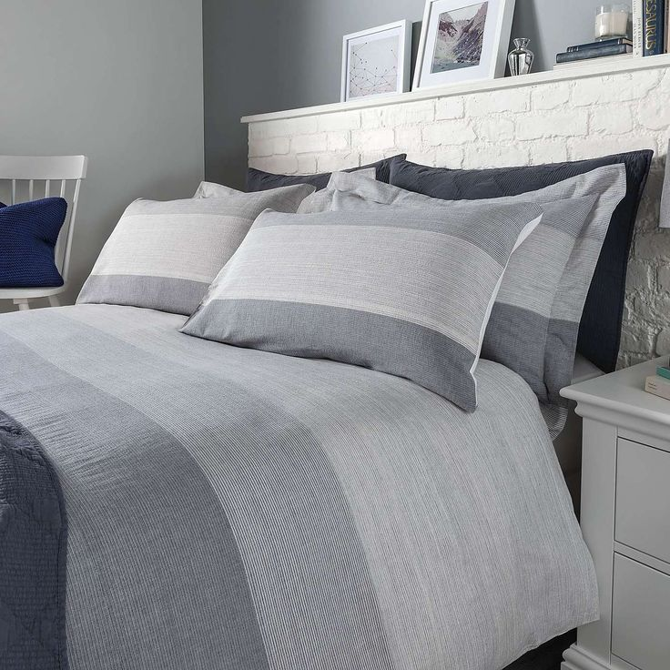 Wentworth Blue Bed Linen Collection | Dunelm