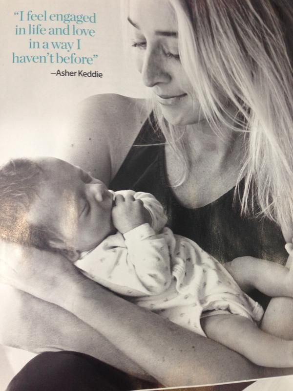 Gorgeous Asher Keddie with her adorable baby Valentino!