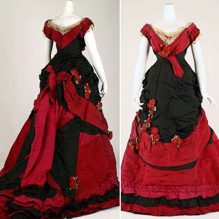 Ball gown, England, ca. 1870s. Metropolitan Museum of Art