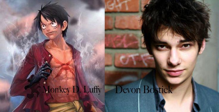 Monkey D Luffy as Devon Bostick - one piece