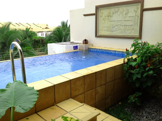Private pool for each room at Grand Lexis Hotel, Port Dickson, Malaysia