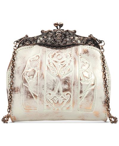 Patricia Nash Copper Metallic Carmonita Mini Frame Bag