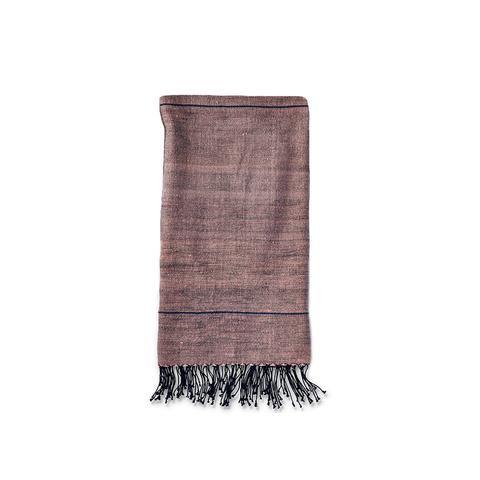 Light Pink + Grey Stripe Hand Towel   Ethiopia