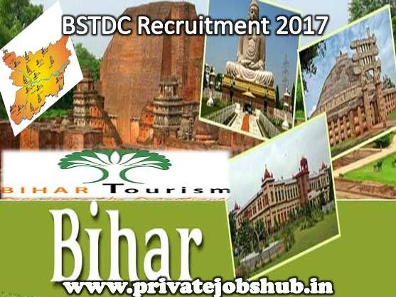 Bihar State Tourism Development Corporation has conveyed a jobs notification as BSTDC Recruitment. Through BSTDC Jobs, organization wants to hire talented and motivated candidates to fill up 19 vacancies.  http://www.privatejobshub.in/