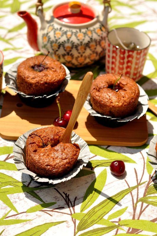 Muffins au Carré Frais® et à la cerise