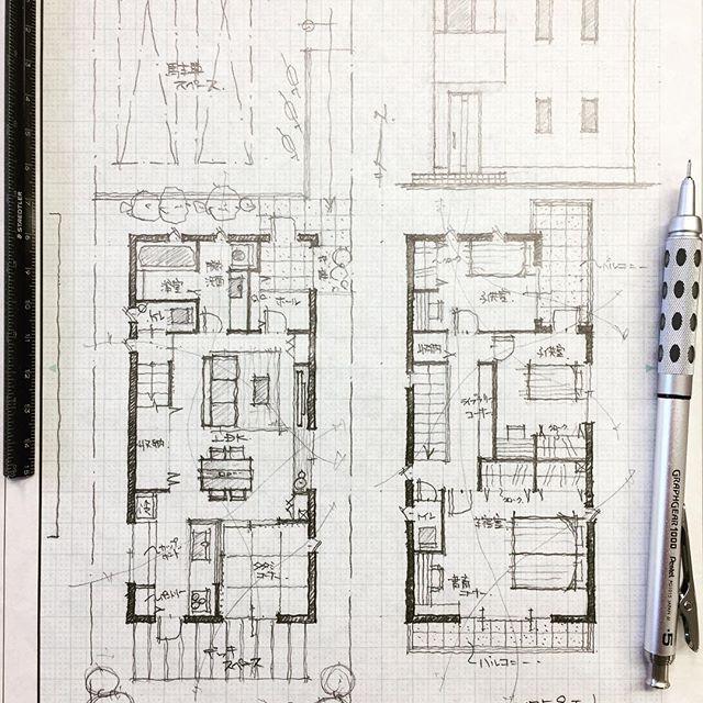 ・ 32坪4人家族の家2 ・ キッチンに立つ奥様が全てを見渡せるように ・ #手描き#マイホーム計画#間取り#間取り図#間取りいろいろ#注文住宅#建築#住宅#家#マイホーム#暮らしを楽しむ#インテリアデザイン#インテリア#マイホーム記録 #フリーハンド#新築一戸建て#奥様#自由設計#くらし #architectures #interiorsketch#archsketch#archidesign#archilovers #architects#arch_arts#freehanddrawing#floorplan#archi