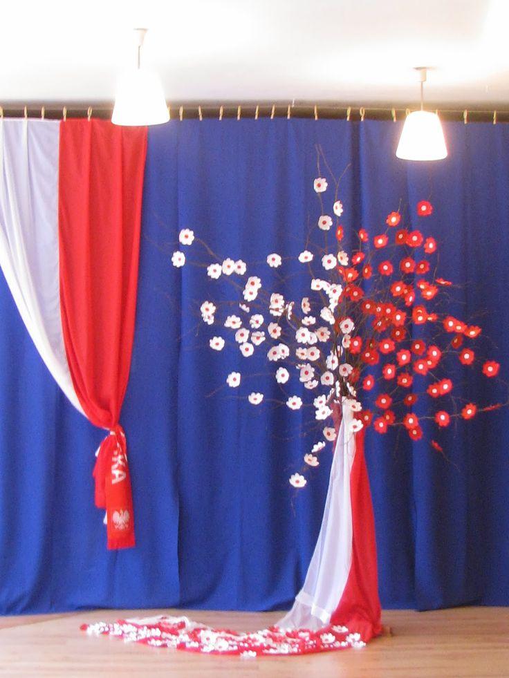 Znalezione obrazy dla zapytania dekoracja na 11 listopada w przedszkolu