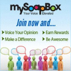 MY SOAP BOX: Take surveys and get  Retailer gift voucher options include: Amazon, Banana Republic, CVS Pharmacy, Groupon, Lowe's, Old Navy, Sears, Sephora, and more. Restaurant options include: Chill's, TGI Friday's, Red Robin, and more. https://www.mysoapbox.com/survey/html.proID=4&ks_cid=1&ks_src=10&locale=1&refer=K_2b505a802d