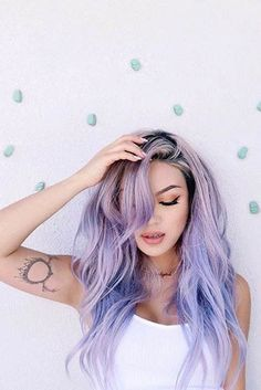pastel hair color colorfull hair