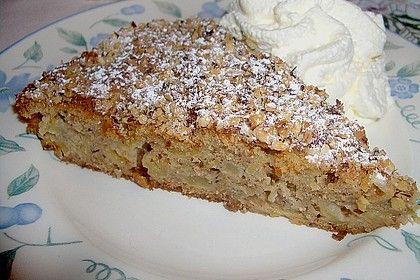 Bolo de maçã – canela – nozes –   – Gebäck, Kuchen, Keks und kleine Köstlichkeiten