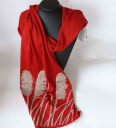 Ravishing red merino wool