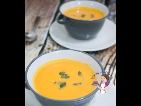 MAPLE PUMPKIN SOUP WITH ROASTED PUMPKIN SEEDS - YouTube  Maple and pumpkin make a perfect combination, try adding it to your pumpkin soup or even to your roasted pumpkin puree. This creamy soup makes a perfect meal on it's own as it's so hearty and filling.    Recipe - http://veenaazmanov.com/maple-pumpkin-soup-roasted-pumpkin-seeds/   Pinterest  -https://www.pinterest.com/pin/271271577534988025/