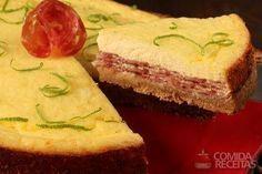 Receita de Cheesecake salgado de salame em receitas de tortas salgadas, veja essa e outras receitas aqui!