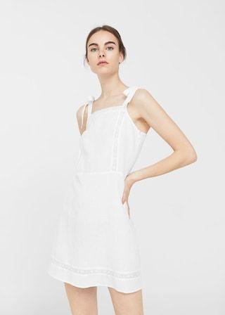 Vestido bordado (branco): MANGO (29,99€)