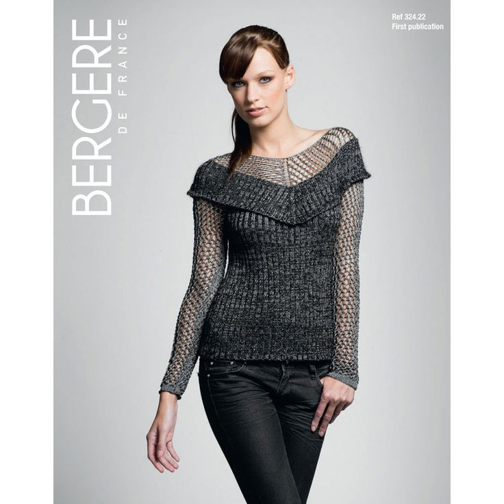 Sweater in Bergere de France Angel. Discover more Patterns by Bergere de France at LoveKnitting. We stock patterns, yarn, needles and books from all of your favorite brands.