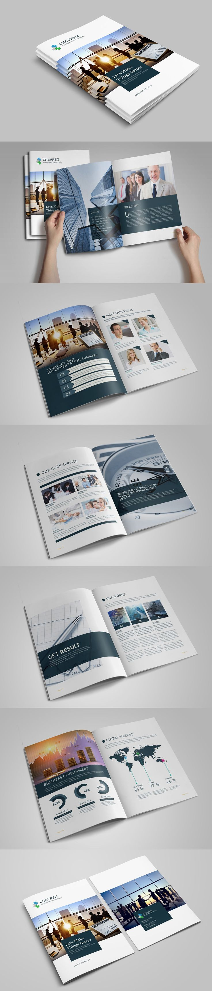 Business Brochure Template INDD 1052 best Layouts