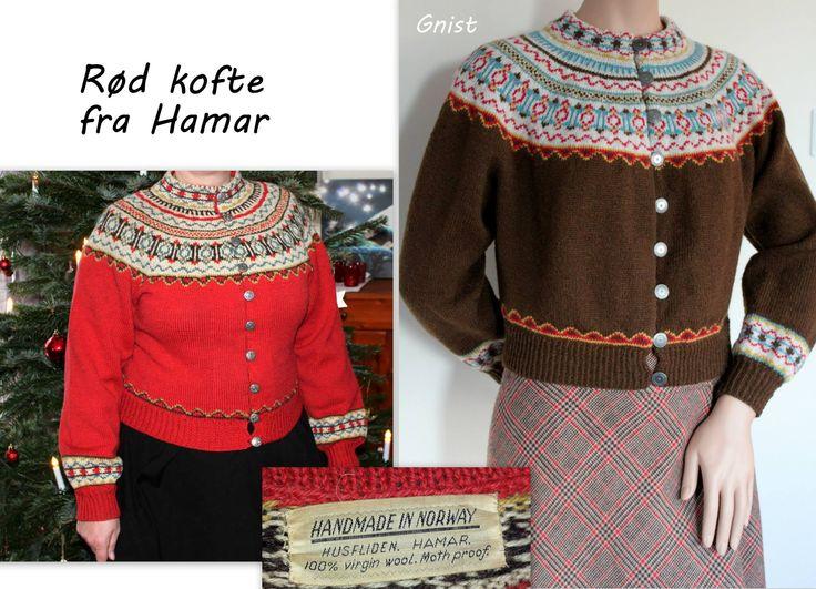 Rød kofte fra Hamar. Mønster finnes her: http://www.ravelry.com/patterns/library/rd-kofte-fra-hamar