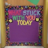exit ticket on a sticky note and stick it on the door on the way out for a quick assessment of understanding.-- Such a great idea!!!!