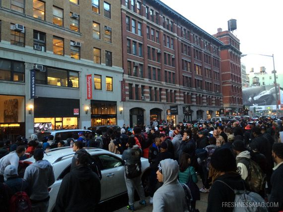 Chaos At Supreme x Nike Foamposite Campout