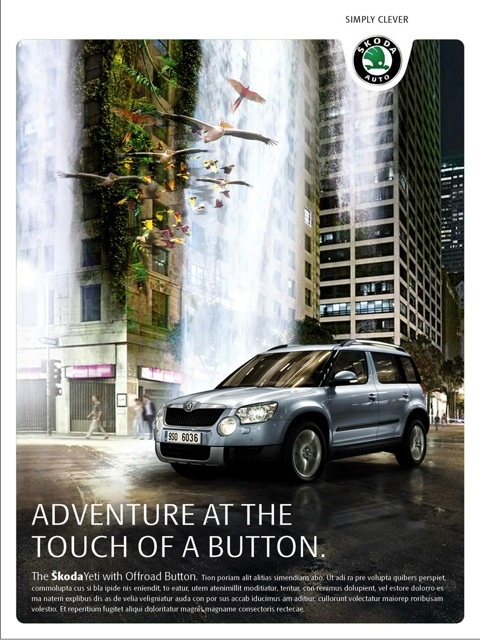 Skoda Yeti Campaign with background images from maground.com