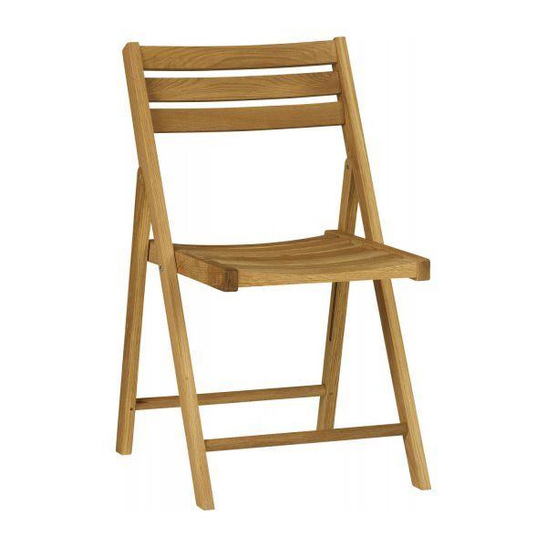 Zeno Chaise Pliante De Jardin En Chene Massif Huile Chaise Pliante Mobilier De Jardin Design Meuble Jardin