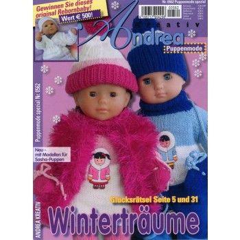 Magazin ANDREA KREATIV SPEZIAL PUPPEN 562/2013 - die Zeitschrift für Strickmode für Deine Puppe. Hier bestellen:  http://www.online-kiosk-24.de/einzelhefte/mode/handarbeit/andrea-kreativ