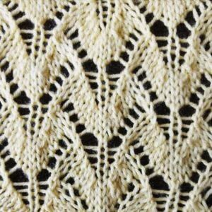 Winged Lace Stitch Pattern   This lace knitting pattern is so lovely and delicate.