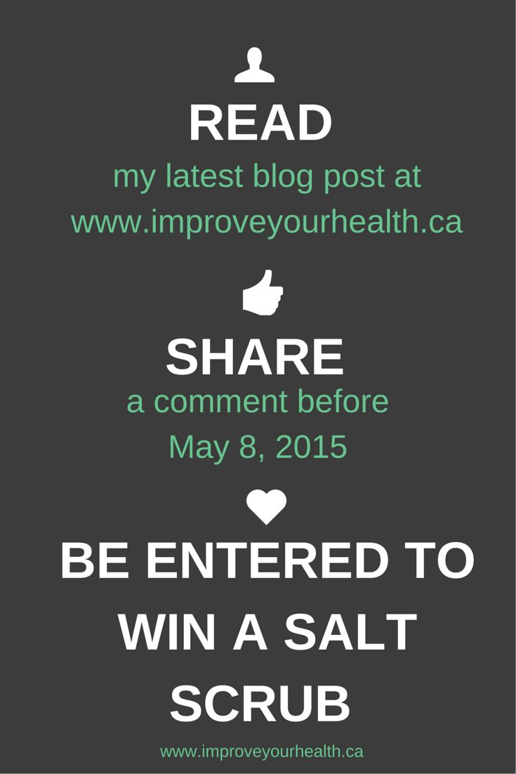 Win a #Miessence salt scrub. Leave a comment on my latest blog post to enter before May 8th. http://wp.me/p5UHTC-3y