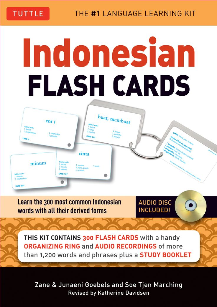 Before heading out to Bali, the best way to learn Indonesian is to start practicing with these flashcards and give a boost to your Indonesian language skills. Since Indonesian uses a romanized alphabet, you can read Indonesian without learning a new alphabet or special characters. Each card features definitions, related words, sample sentences, and thematic grouping.