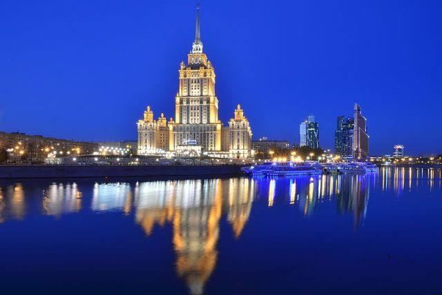 Stalinist Architecture: Hotel Ukraina, now known officially as the Raddison Royal Hotel