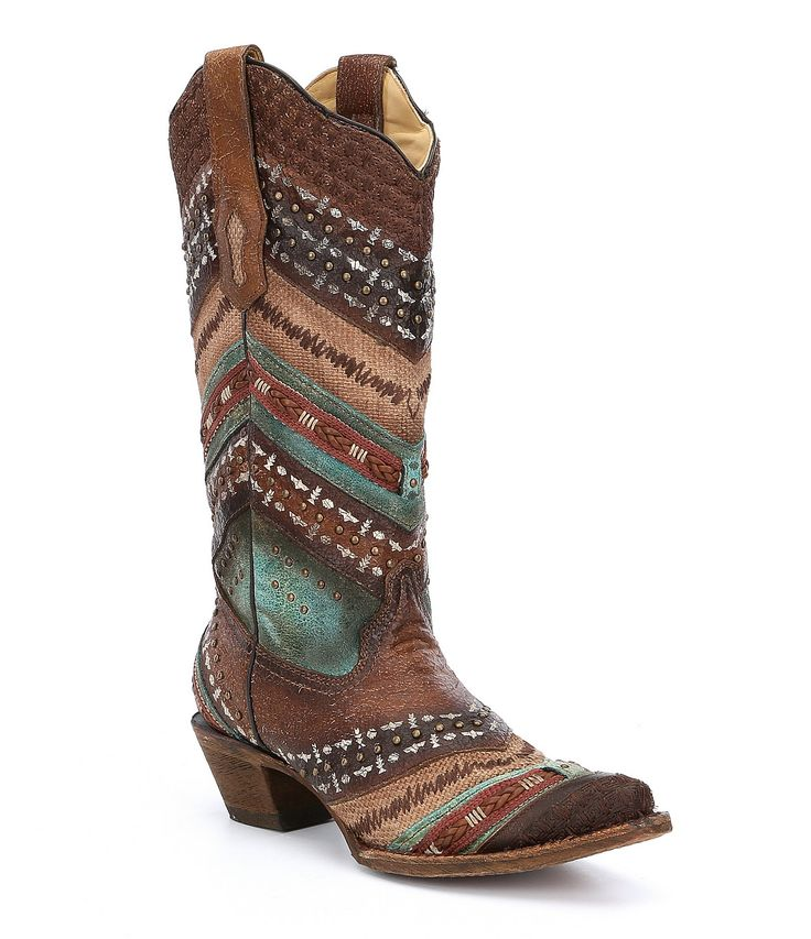 Shop for Corral Embroidery & Stud Detailing Block Heel Boots at Dillards.com. Visit Dillards.com to find clothing, accessories, shoes, cosmetics & more. The Style of Your Life.