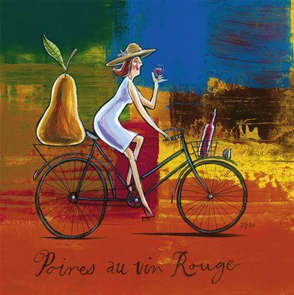 'Poires au Vin Rouge' by Frans Groenewald