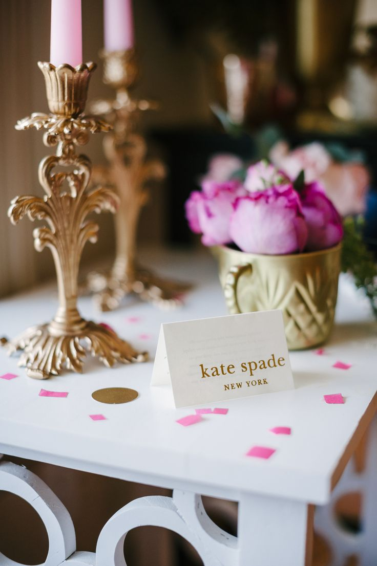 Absolutely obsessed with this Kate Spade inspired soiree! Glitter ...