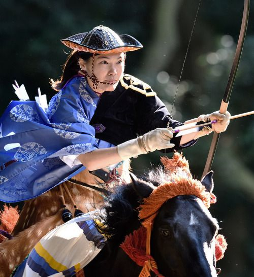 Yabusame (horse back archery) festival in Meiji-jingu shrine, Tokyo, Japan