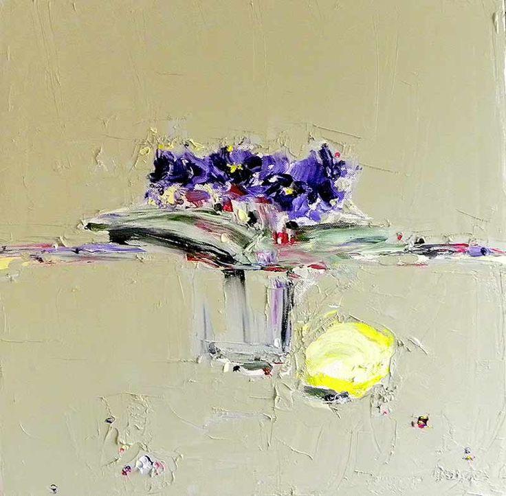 Junction Art Gallery - Alison McWhirter 'African Violets' http://www.junctionartgallery.co.uk/artists/painting/alison-mcwhirter
