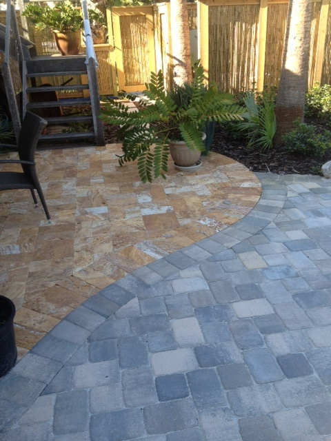Using Contrasting Materials Tremron Old Town Pavers And