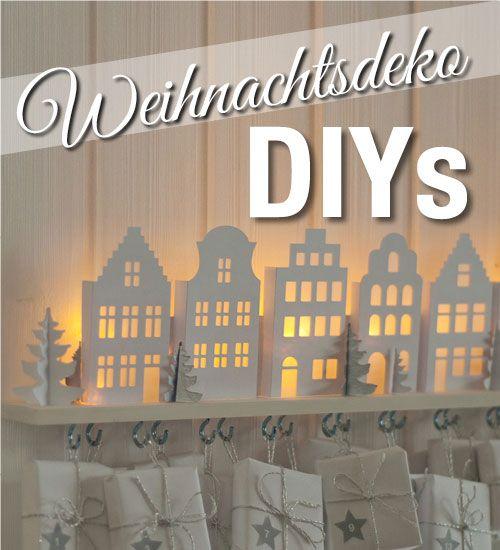 DIY: Adventskalender basteln mit süßen beleuchteten Mini-Häusern – Deko-Kitchen