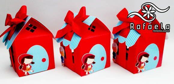 Casinha com detalhes em Scrap Chapeuzinho Vermelho.    Mudamos a cor da casinha e do telhado!    Feito em qualquer tema!    Peça já o seu!