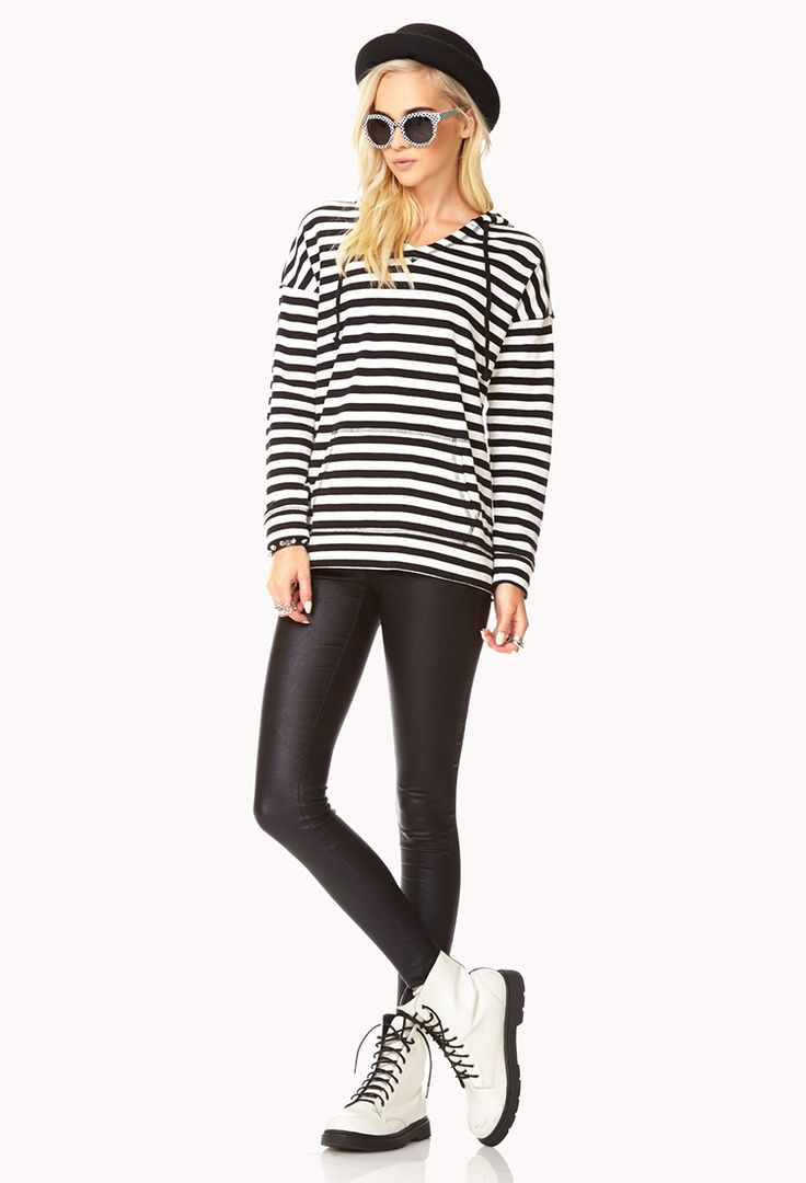 Everyday Striped Hoodie | FOREVER21 - 2076805843