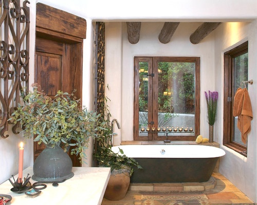 Bathroom Spanish Style Design, Pictures, Remodel, Decor and Ideas - page 12
