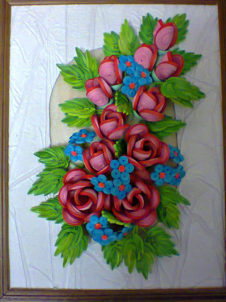 174 best images about quilling flowers rose on pinterest for Paper quilling work