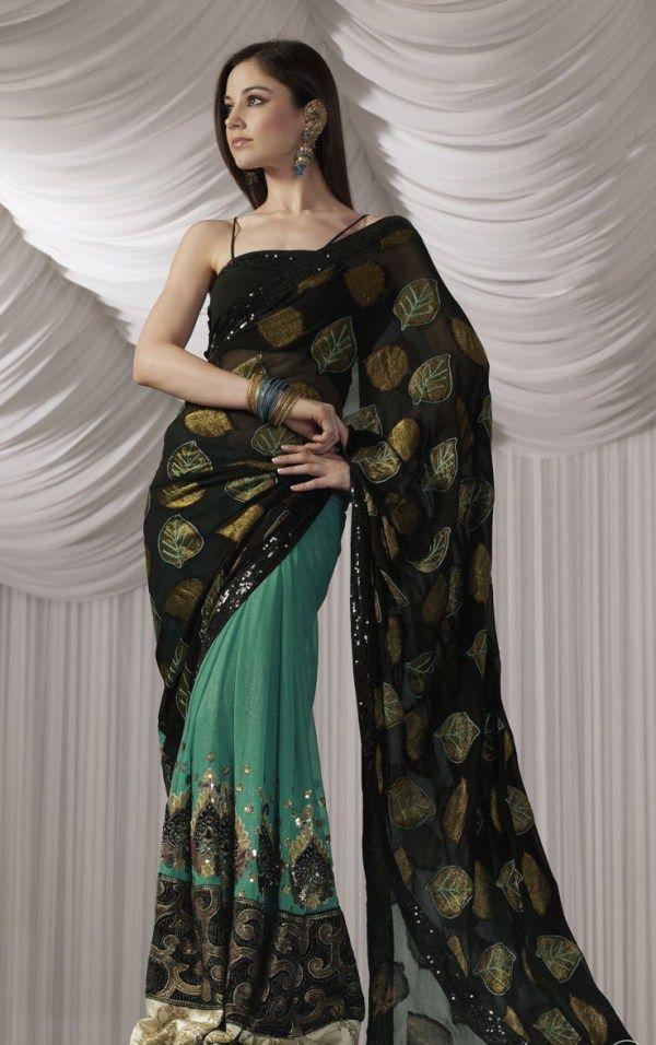 Latest collection Of Pakistani Designers Sarees